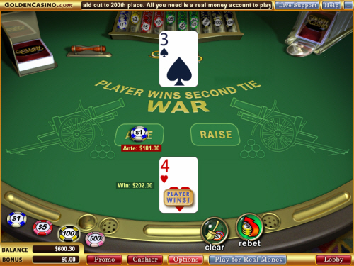 casino war online game